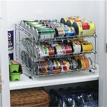 Attractive Neu Home Can Organizer 36 Cans Capacity, Silver 18u0026quot;L X 16u0026quot;W