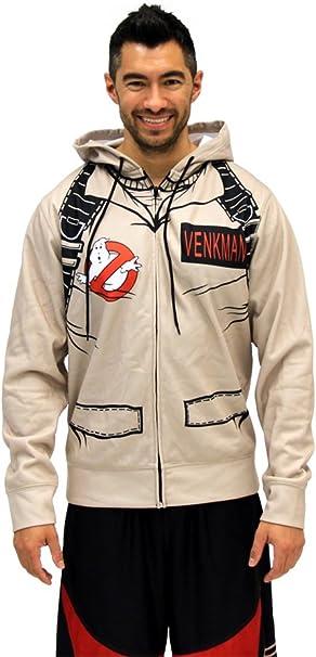 Ghost Busters Cosplay Hoodie Costume Unisex Hooded Zip Up Jacket Coat Sweatshirt