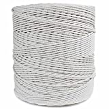 """GOLBERG Twisted 100% Natural Cotton Rope 5/32"""", 3/16"""", 7/32"""", 1/4"""", 5/16"""", 3/8"""", 1/2"""", 5/8"""", 3/4"""", 1"""", 1 1/4"""", 1 1/2"""" - White Cotton Rope - Several Lengths to Choose"""