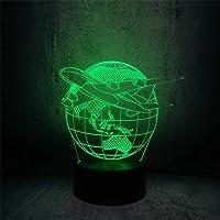 Luminária de mesa LED estilo 3D, abajur de mesa , globo , viagem, avião