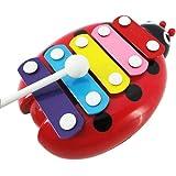 5-Note Xylophone Jouet de Bébé, Amison Coléoptère Enfant Jouet Musical Instrument Plastique (Rouge)