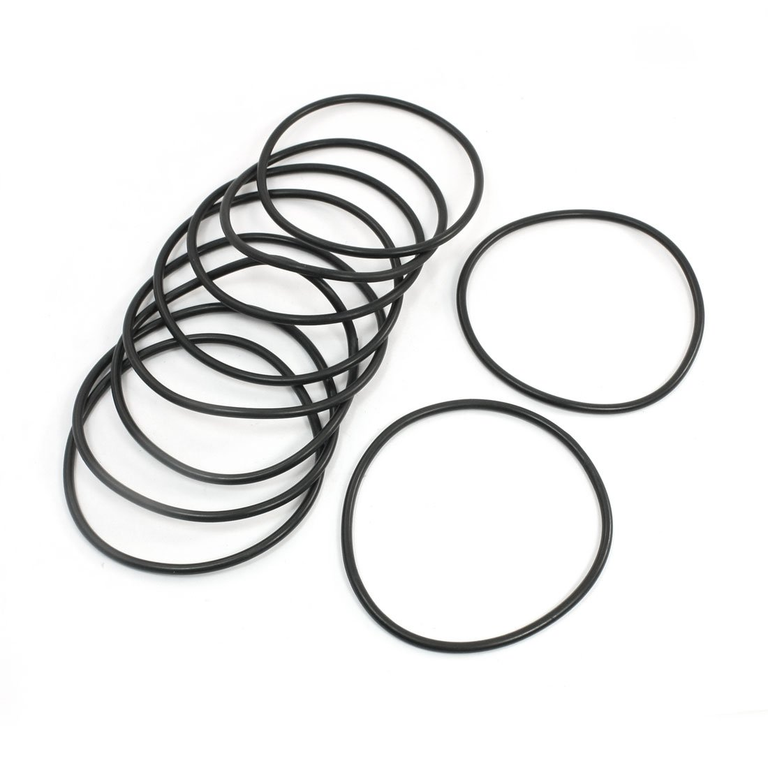 10pcs 100mm OD 4mm Thickness Industrial Rubber O Ring Seal Black Sourcingmap a14022100ux0218
