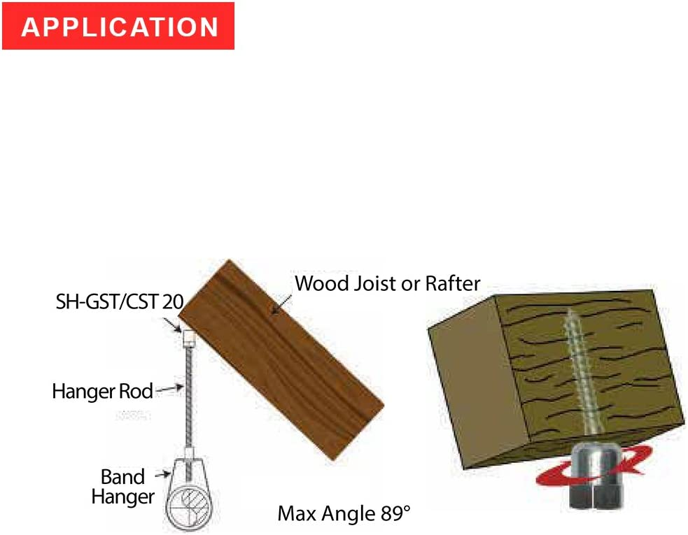 Threaded Rod Fitting Sammys 8020957-25 1//4 x 1 Horizontal Rod Anchor Super Screw with 3//8 in for Wood Pkg.=25
