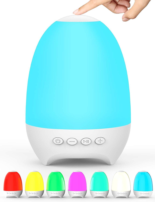 Altavoz Bluetooth luz tactil muklticolor, recargable USB, FM