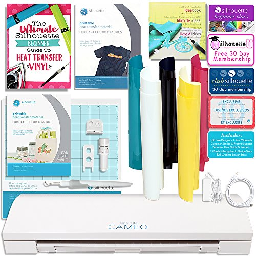 Silhouette CAMEO 3 T-Shirt Starter Bundle with Starter Guide, Online Class, Heat Transfer Starter Kit, Printable Heat Transfer, and More! by Silhouette America