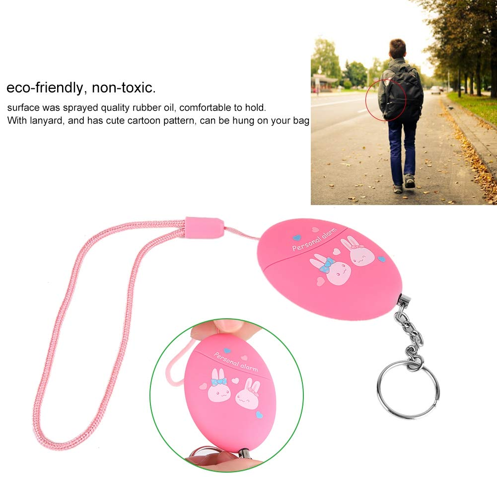 pink Personal Alarms for Women Girl Portable Alarm Keychain Saftey Alert with Lanyard 130db SOS Emergency Self Defense for Women Elderly Kids Night Workers