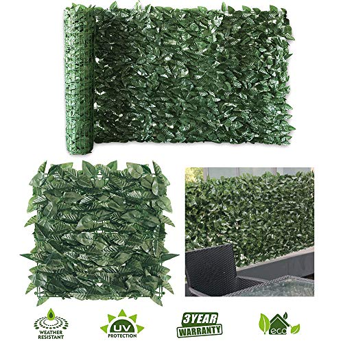 · Petgrow · Artificial Ivy Trellis Fence Privacy Screen, Faux Foliage Leaf Privacy Outdoor Boxwood Ivy,DIY Decorations for Fence Garden Backdrop, 4 Roll