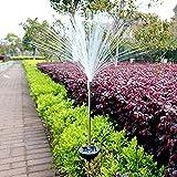 UNAKIM--2pcs Solar Power Color Change Path Lights LED Garden Lawn Spot Lamp Outdoor Yard