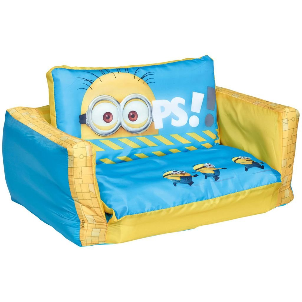 Minions 2 in 1 Inflatable Flip Out Mini Sofa and Lounger Worlds Apart 286DPM01E
