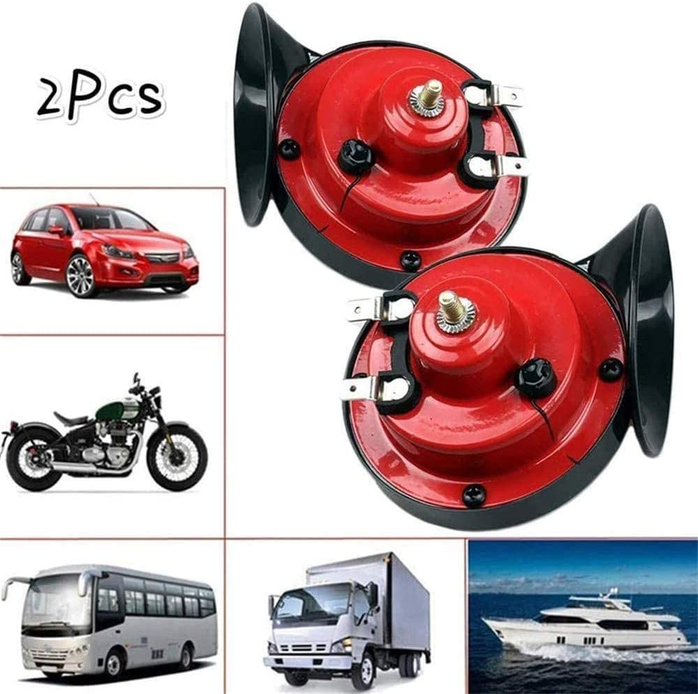 yeehao 300DB 12V//24V Electric Air Horn Loud Sound Replacement for Raging Car Truck Boat Train