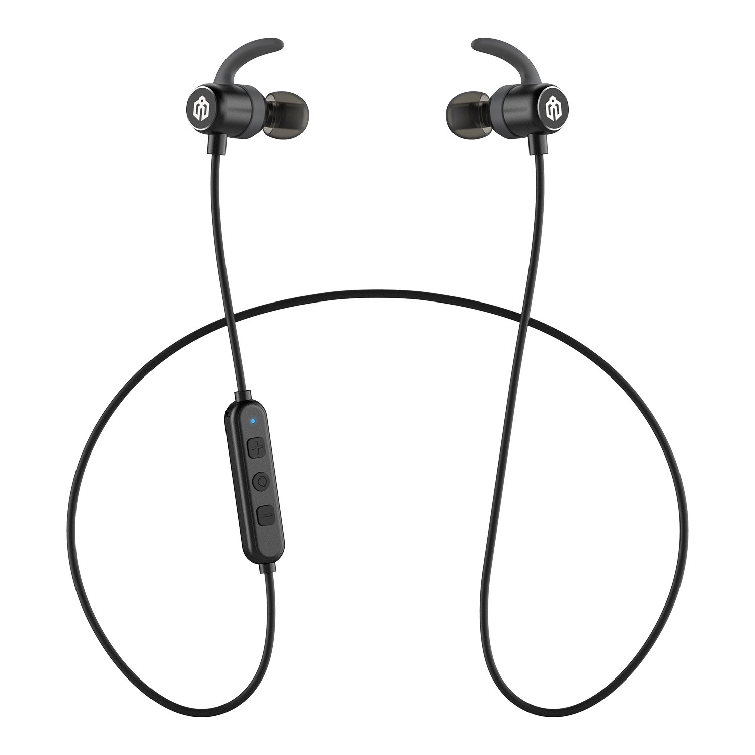 iClever Bluetooth Headphones In Ear, Wireless Earbuds with Stereo Music, 10 HOURS Playtime, Magnetic Connection, CVC 6.0 Noise Cancelling, Waterproof Sports Headphones for iPhone 8 - Black by iClever