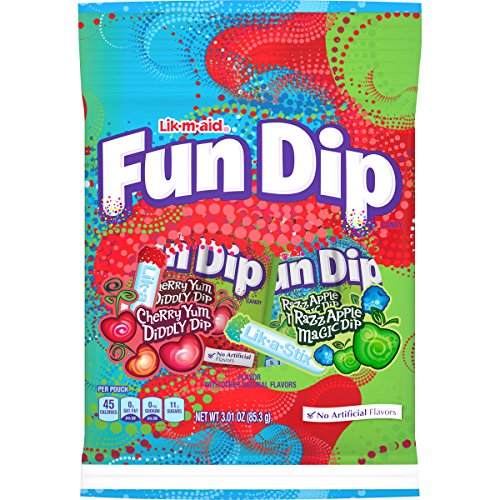 LIK-M-AID Fun Dip Cherry Yum Diddly RazzApple Magic,