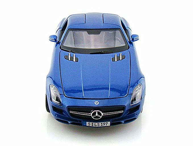 Amazon.com: Mercedes Benz SLS AMG, Blue - Maisto Premiere 36196 - 1/18 Scale Diecast Model Toy Car: Toys & Games