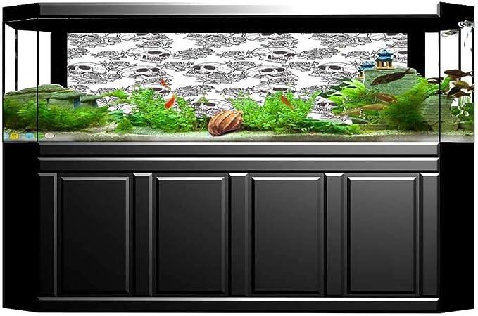 Jiahong Pan Background Fish Tank Decorations Bloomsotherworld Textured Western Halloween Black White Fish Tank Backdrop Static Cling Wallpaper Sticker L23 6 X H15 7 Amazon Ca Pet Supplies