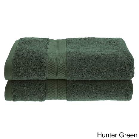 Dos piezas vibrante color verde Juego de toallas de baño, toalla de baño antimicrobios,