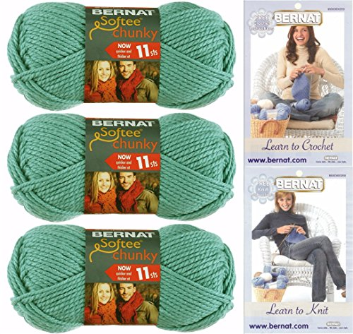 Bernat Softee Chunky Yarn Bundle Super Bulky #6, 3 Skeins Se