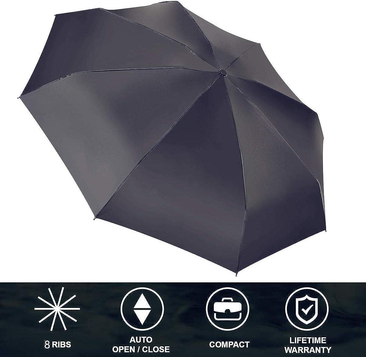 Lady Automatic Open/&Close Folding Compact Super Windproof Anti Rain Sun Umbrella