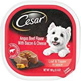 CESAR Savory Delights Angus Beef Flavor with Cheese & Bacon Dog Food Trays 3.5 oz. (Pack of 24)