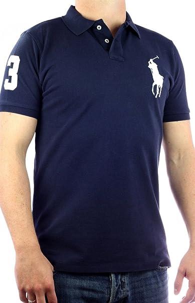 b0921d963d3a Ralph Lauren Polo Big Pony Mens Polo-Shirt navy blue
