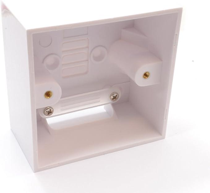 2 X Montage en Surface Pattress Switch Socket Back Box 2 Gang 47 mm Deep