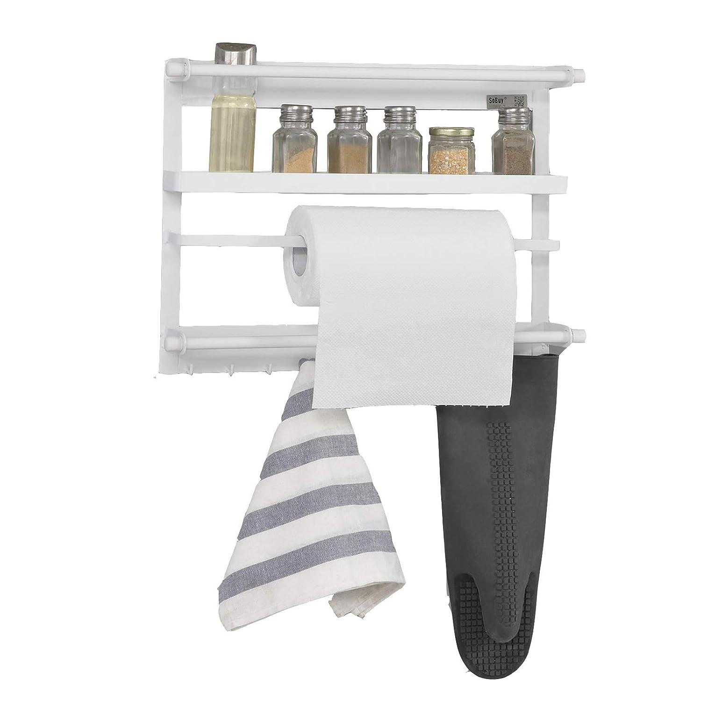 SoBuy® FRG247-W Regal für Kühlschrank mit Magnetleiste, magnetisches ...