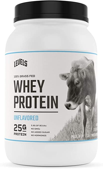Amazon Com Levels 100 Grass Fed Whey Protein No Gmos Unflavored 2lb Health Personal Care