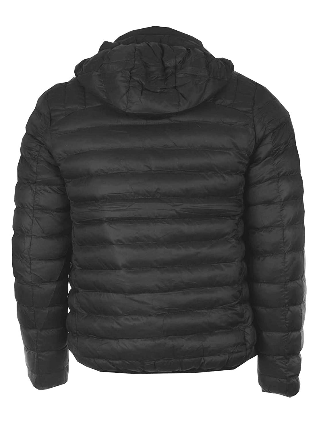 GG Gents Mens Quilted Padded Puffer Bubble Down Feel Hooded Jacket Coat