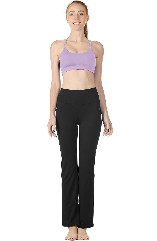 icyzone Damen Yoga Sport-BH mit Gepolstert Ringerr/ücken Fitness Bustier Workout Top Bra