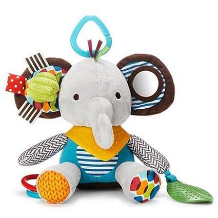 Highdas 2016 Multifuncional Peluches Molar Bite pegamento entrada bebé cama colgante (elefante)