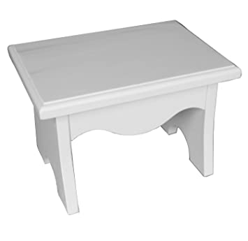 Groovy White Wooden Step Stool For Children Beatyapartments Chair Design Images Beatyapartmentscom