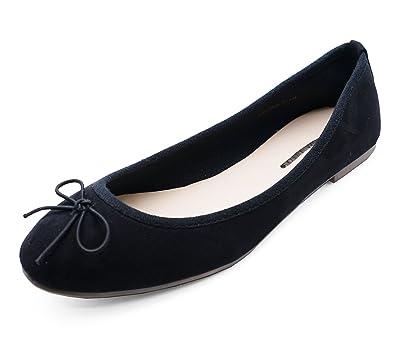 2a2d8c5fde6c6 HeelzSoHigh Ladies Flat Black Slip-On Work School Shoes Dolly Comfy Ballet  Ballerina Pumps Sizes