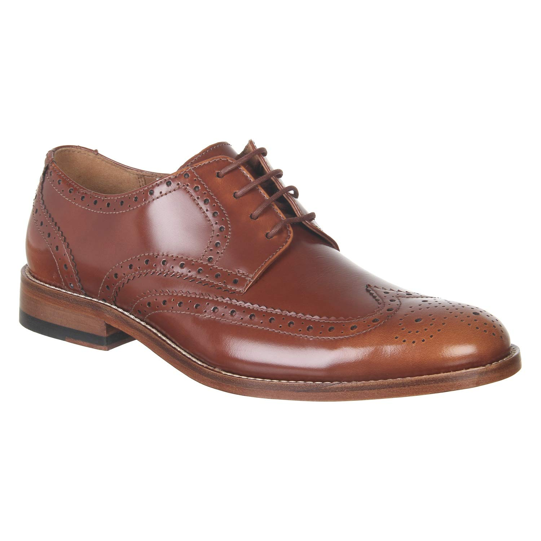 máquina de coser Inferior Deformar  Buy Clarks Men's James Wing Mahogany Leather Formal Shoes Brown at Amazon.in