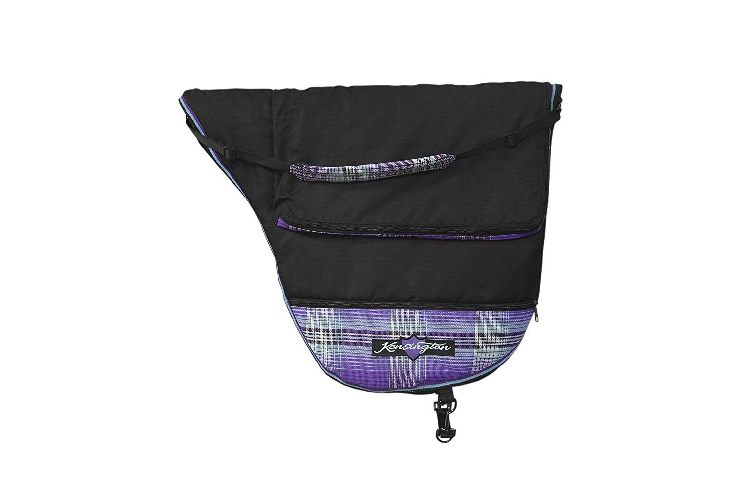 Kensington Dressage Saddle Carry Bag - Padded for Additional Protection - Features Top Compartment and Lower Storage Pockets - Padded Shoulder Pad for Carrying Comfort