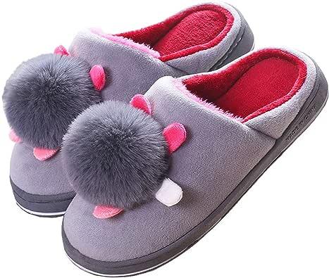 Zapatillas de Estar por Casa Mujer Zapatillas de Invierno Interior Pantuflas Antideslizantes CáLido Zapatos de Dormitorio Tamaño