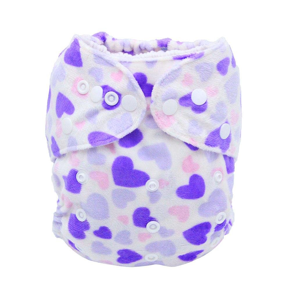 Silveroneuk Newborn Baby Soft Washable Waterproof Breathable Nappy Cloth Diapers