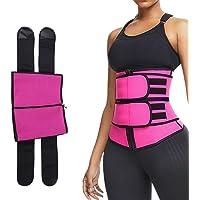 Modelador de cintura com cinto abdominal, corpete de cintura ajustável esportivo para perda de peso e queima de gordura…