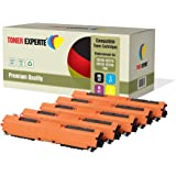 Kit 5 TONER EXPERTE® 126A CE310A CE311A CE312A CE313A Toner compatibili per HP Colour Laserjet CP1025 CP1025nw CP1020 M175a M175nw Pro 100 M175 MFP M175a M175nw M275 TopShot M275