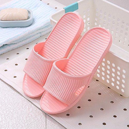 WILLIAM & KATE bunte Hausschuhe Für Frauen Im Sommer Casual Anti-Slip Hausschuhe Innenboden Slipper Sandale Bad Slipper Nude Pink