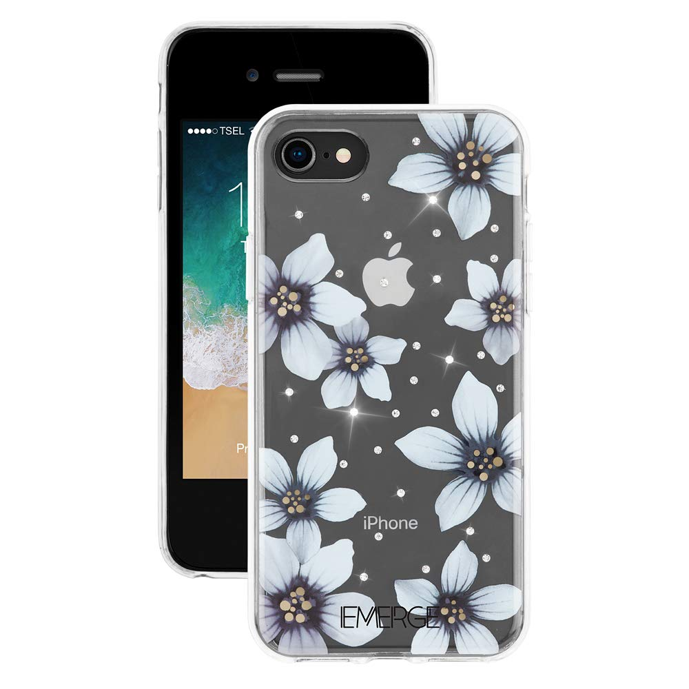 EMERGE FLORAL iPhone 8 / iPhone 7 Flower Cell Phone Case - White Flower Print