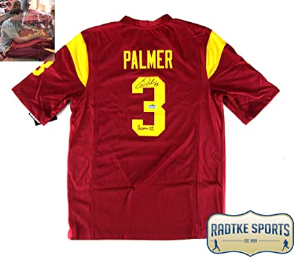Carson Palmer AutographedSigned NCAA USC Trojans Maroon Nike Jersey  free shipping