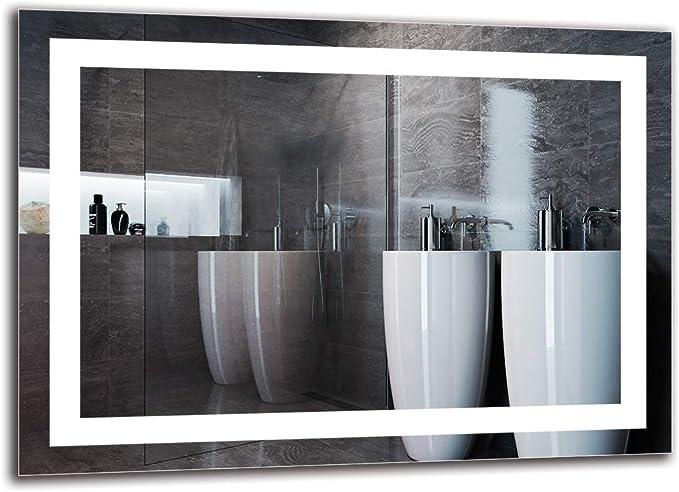 Espejo LED Premium - Dimensiones del Espejo 70x50 cm - Espejo de baño con iluminación LED - Espejo de Pared - Espejo de luz - Espejo con iluminación - ARTTOR M1ZP-47-70x50 -