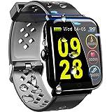 スマートブレスレット IP68防水 活動量計 歩数計 GPS スマートウォッチ 血圧計 心拍計 睡眠検測 多機能腕時計 Line/Facebook/Twitter/着信通知 1.3インチ 大画面 2.5Dカラースクリーン smart watch iPhone&Android対応 日本語アプリ
