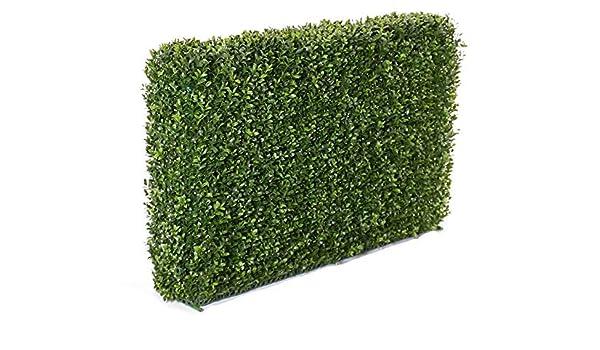 artplants.de Set 2 x Seto Artificial TOM, 2920 Hojas, Marco metálico, 100 x 50cm - 2 Unidades de Arbusto Decorativo - Mata sintética: Amazon.es: Hogar