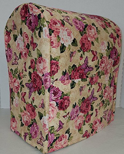 Roses & Butterflies Kitchenaid Stand Mixer Cover (All Roses & Butterflies, 7qt Proline/8qt Commercial) 8 Quart Rose