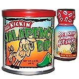 Ass Kickin' Jalapeño Dip - Mix our Ass Kickin' Jalapeño Dip with sour cream and mayonnaise. Comes with a FREE mini Wasabi hot sauce bottle to spice up as desired!