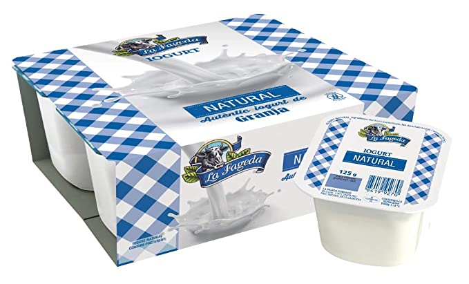 La Fageda - Yogur Natural, Paquete de 4 x 125 g
