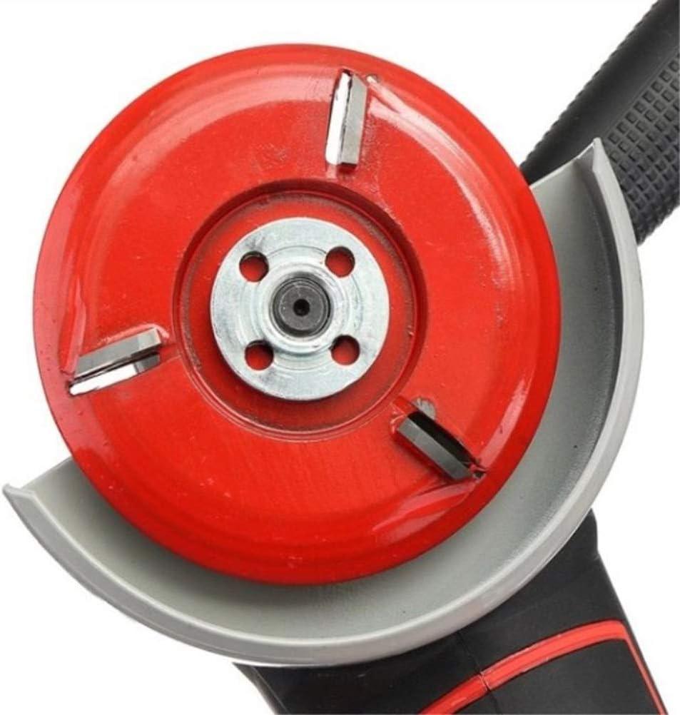 Rojo iplusmile Talla de Madera Disco Amoladora de /ángulo de Corte de Madera Discos de molienda Herramienta de Madera Amoladora Accesorio
