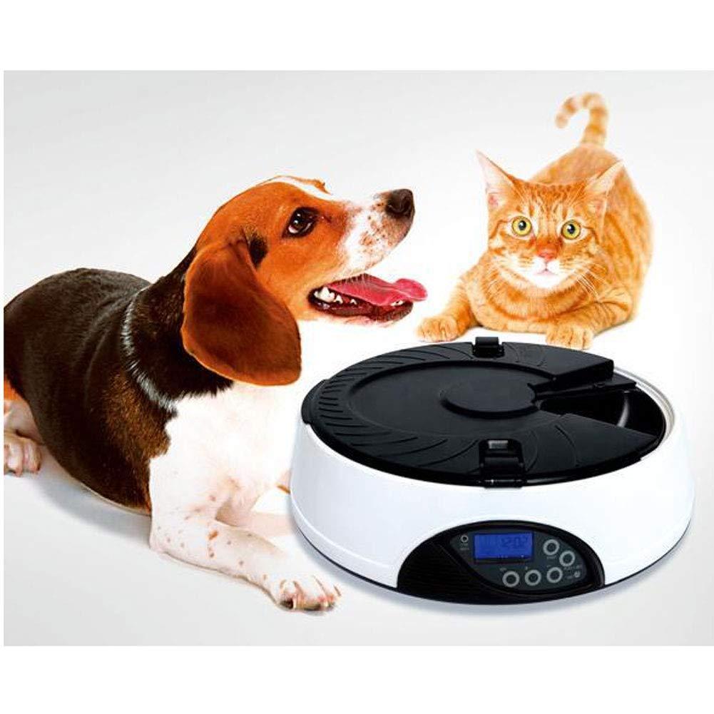 WLEI Comedero automático para Mascotas, comedero automático para Perros y Gatos, Seis tazones Grandes e Independientes con Temporizador programable y ...