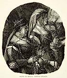 1893 Wood Engraving Venice Nobility Venetian Renaissance Costume Gentile Bellini - Original In-Text Wood Engraving