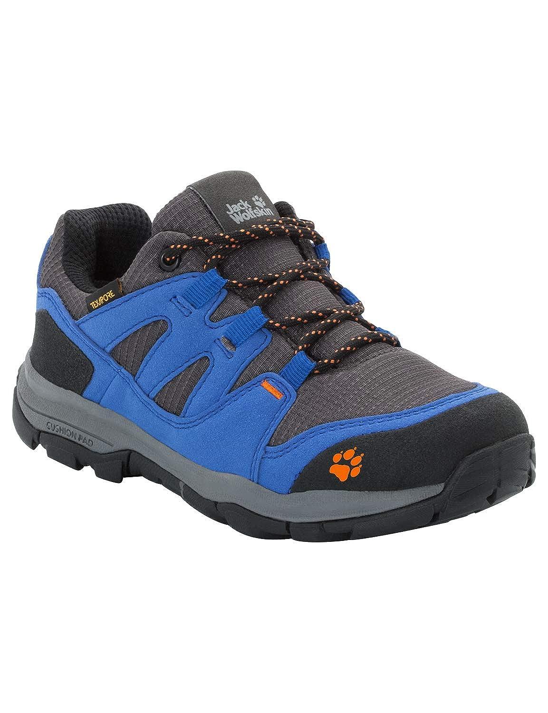 Bleu (Vibrant bleu 1615) 36 EU Jack Wolfskin MTN Attack 3 Texapore Faible K imperméable, Chaussures de Randonnée Basses Mixte Enfant